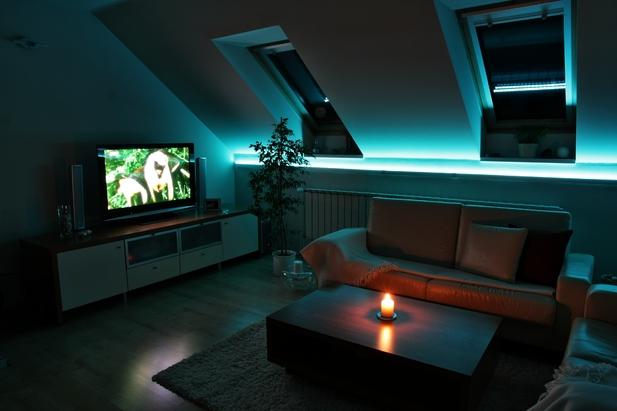 LED osvětlení obývacího pokoje